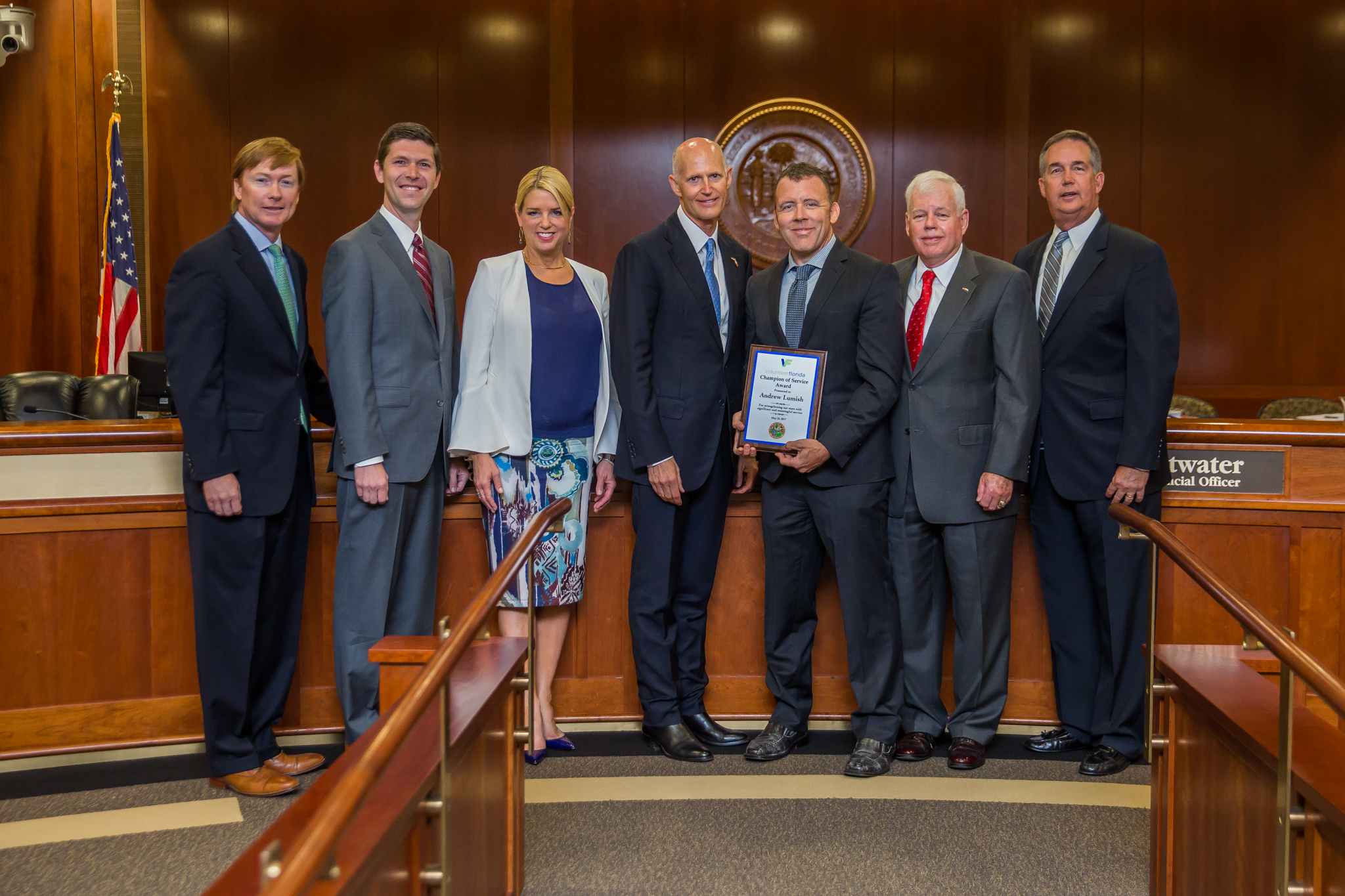 Today, During A Meeting Of The Florida Cabinet, Governor Rick Scott Awarded  Andrew Lumish With The Volunteer Florida Champion Of Service Award, ...