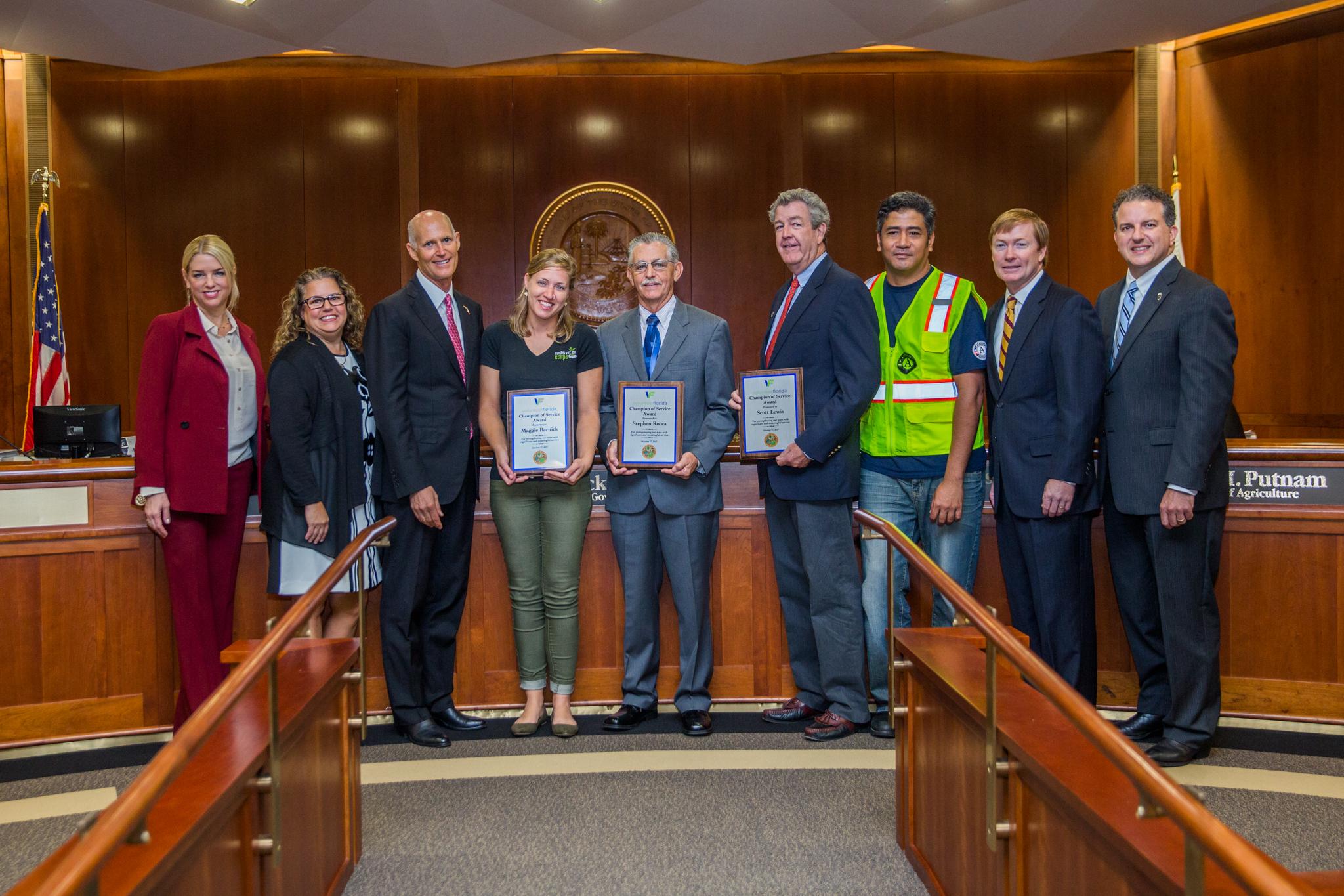 Governor Scott And Volunteer Florida Present Champion Of Service Awards