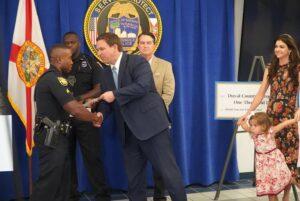 Governor Ron DeSantis Distributes Bonus Checks to Jacksonville Sheriff's Deputies Through the 'Florida's Heroes' Initiative